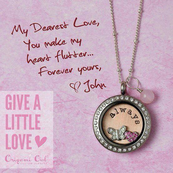 Origami Owl Medium Heart Locket