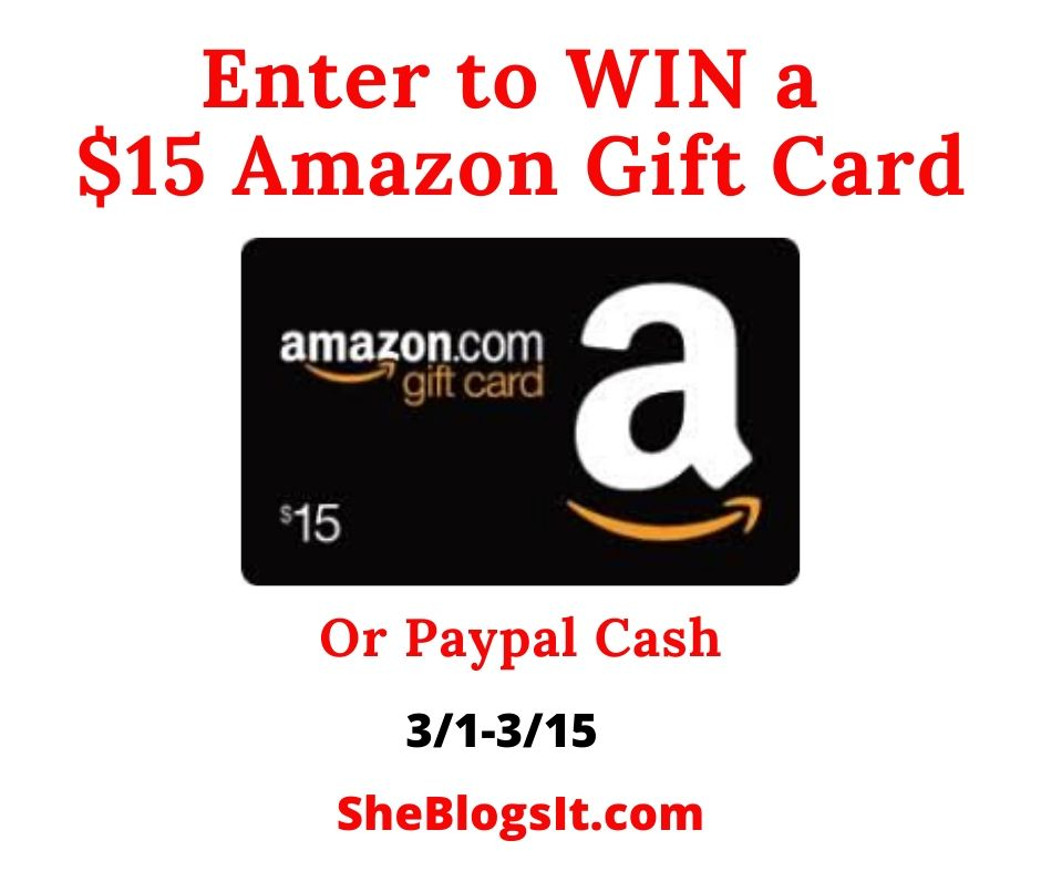 Enter To WIN A $15 Amazon Gift Card(1)